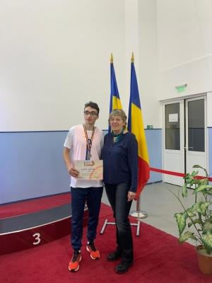 """Constantin Raul Pruteanu, medalie de aur la """"lungime"""" în Campionatul Național de cadeți"""
