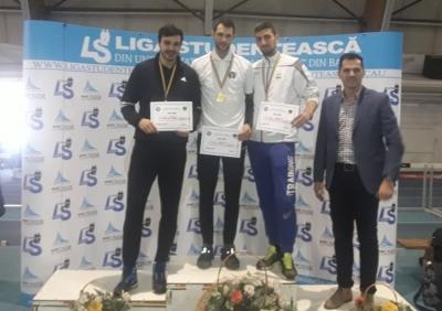 Bogdan Șitoianu a sărit pe podium la CN Universitar